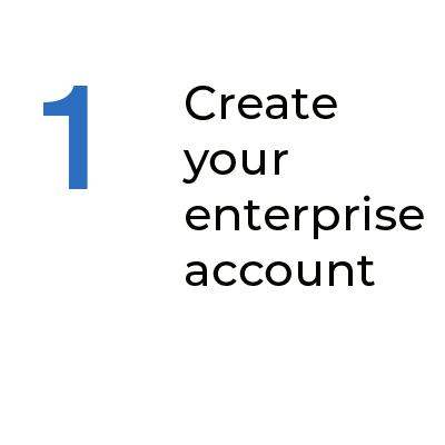 Step 1 Create your enterprise account